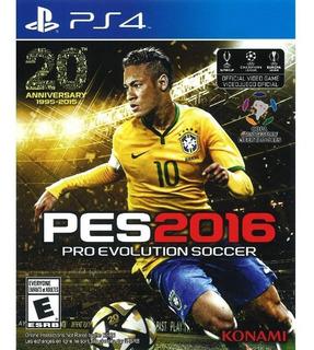 Videojuego Pro Evolution Soccer 2016 Ps4 Nuevo-sellado