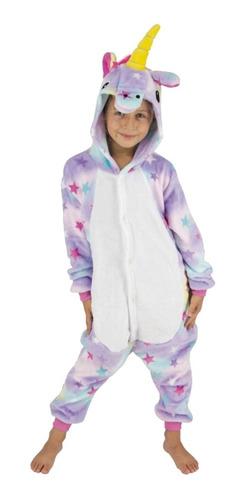 Pijama Infantil Unicornio Estrellas Arcoiris Niños Niñas Mf