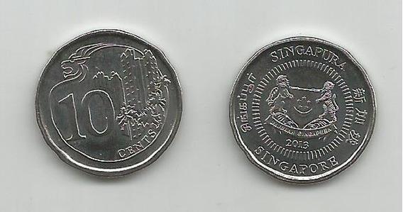 Moneda Singapur 10 C. 2013 S/c