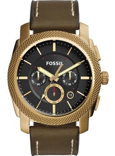Relógio Fossil Masculino Fs5064/2vn Couro