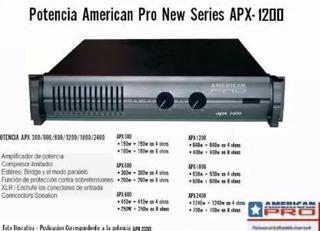 Potencia American Pro Apx 2