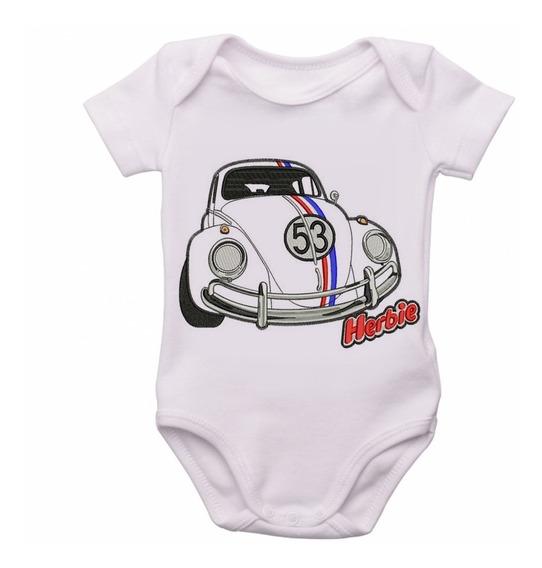 Bodie Criança Infantil Roupa Bebê Nenê Herbie Fusca Volkswag