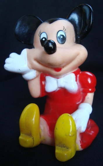 Juguete Antiguo Muñeco De Goma Minnie Mickey. 10220