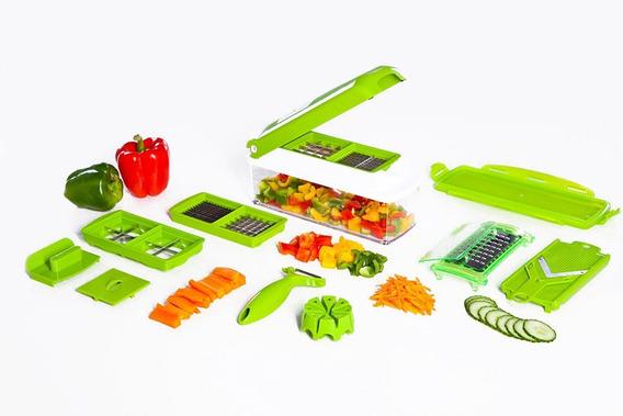 Cortador Mandolina De Vegetales Multiuso Verde Accesorios