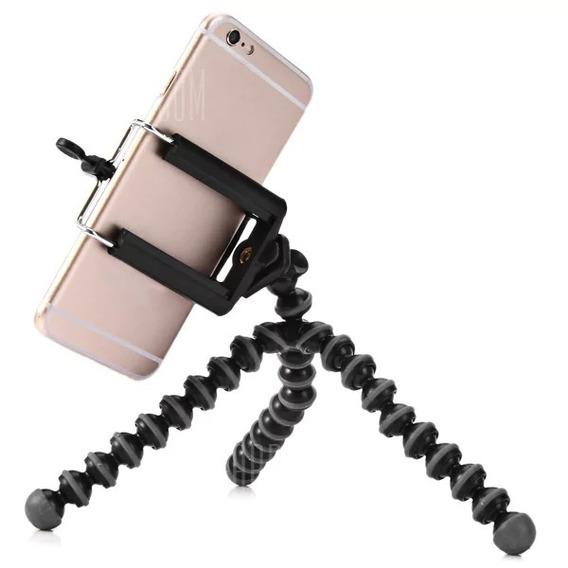 Mini Tripé Flexível Para Celular Go Pro Câmera Nikon Canon