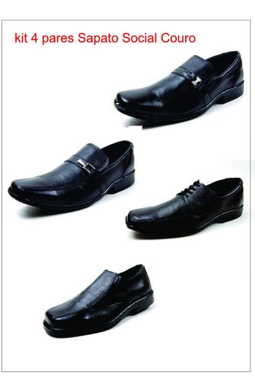 Kit 4 Modelos Sapato Social Couro Legitimo Abc Confortável
