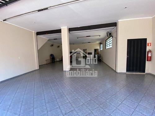Salão Para Alugar, 135 M² Por R$ 2.800/mês - Campos Elíseos - Ribeirão Preto/sp - Sl0223