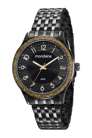 Relógio Mondaine Feminino Preto 53649lpmvpe2