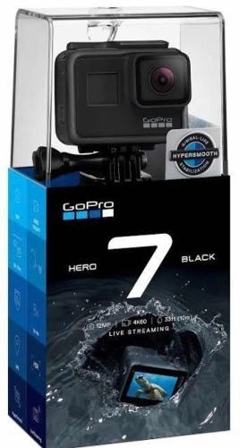 Câmera Digital Gopro Hero 7 Black 12mp Wi-fi 4k Nova