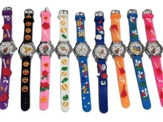 Reloj Infantil Niños Estampados Ideal Souvenier Super Oferta *** Full-time Mania *** Mercadolider Platinum !!