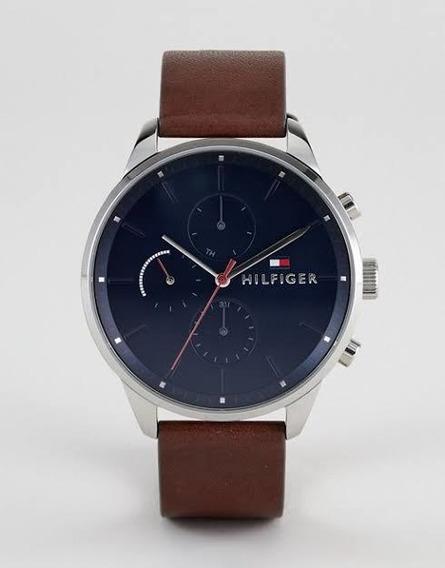 Relógio Tommy Hilfiger Th1791487 Orig Anal Blue Calfskin
