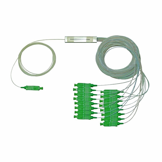 Splitter Fibra Sm Plc 1x16 0.9mm 1.5m Sc/apc Verde