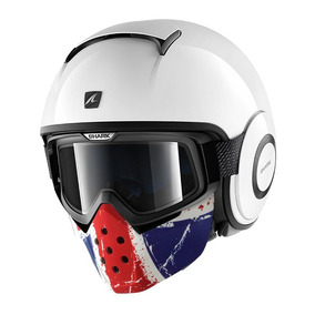 Capacete Shark Drak Blank Whu Com Máscara Flag Uk