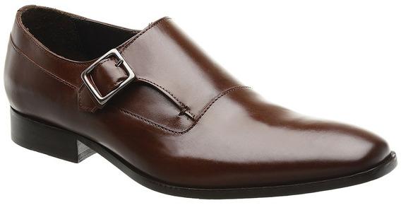 Sapato Monk Masculino Malbork Em Couro Caramelo 60054