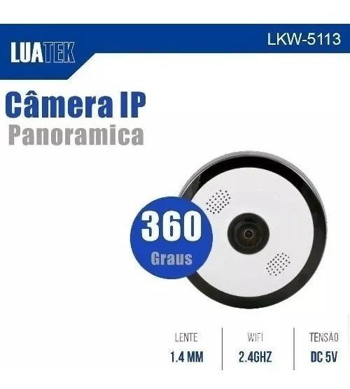 Câmera Wifi 360° Infra Vermelho Microfone Luatek 5113 Wi-fi