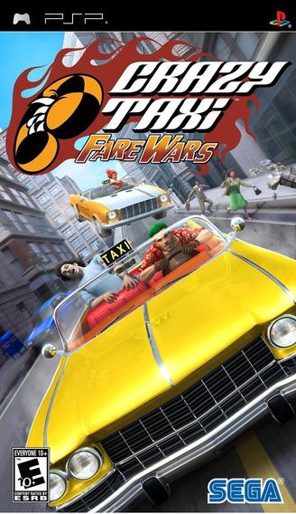 Jogo Crazy Taxi Fare Wars Playstation Psp Game Frete Grátis