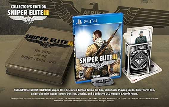 Jogo Sniper Elite 3 Ed. Colecionador Ps4 M. Fisica