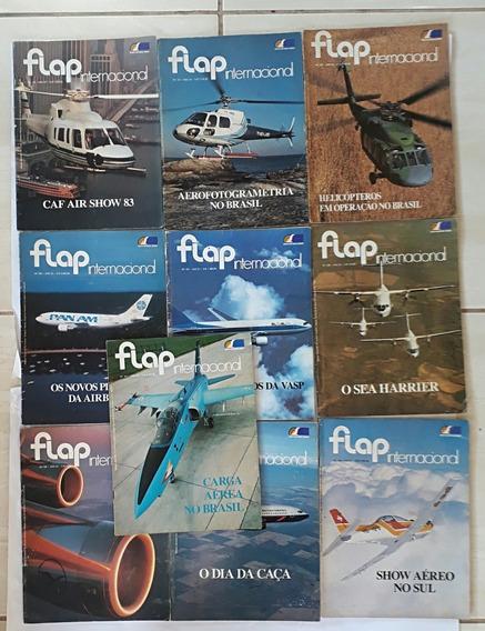 Flap Internacional 10 Revista Aviação Aviões Raro Antigo - A