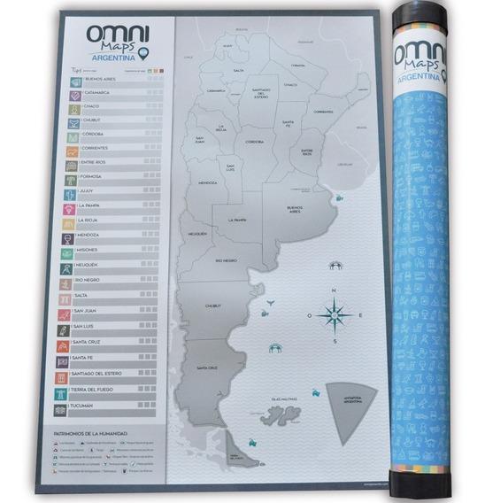 Mapa Omni Maps Argentina Para Raspar Raspa Fácil Incluye Púa