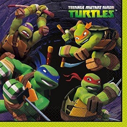 Únicas 230550 Nickelodeon Tortugas Ninja Servilletas Almuerz