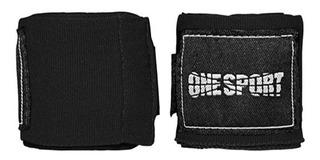 Bandagem Elástica 2,5 Mts Atadura One Sport Muay Thai Preta