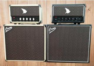 Amplificador Valvulado 7 Watts 12ax7 C/caixa 1x12 Vinho Crow
