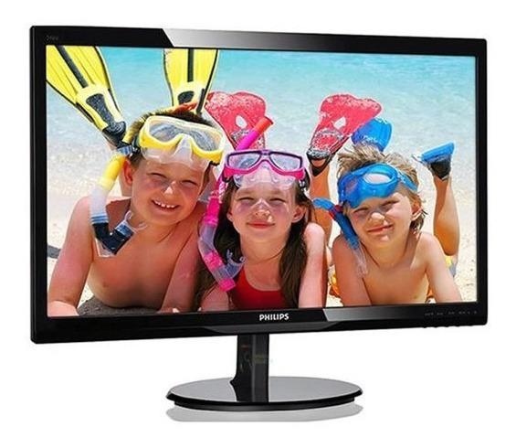 Monitor Philips 223v5lhsb M Tela 21,5 Led Preto Hdmi/vga