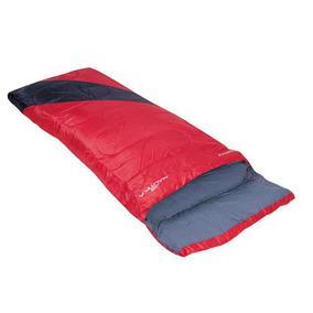 Saco De Dormir Liberty +4°c A +10°c Preto E Vermelho -