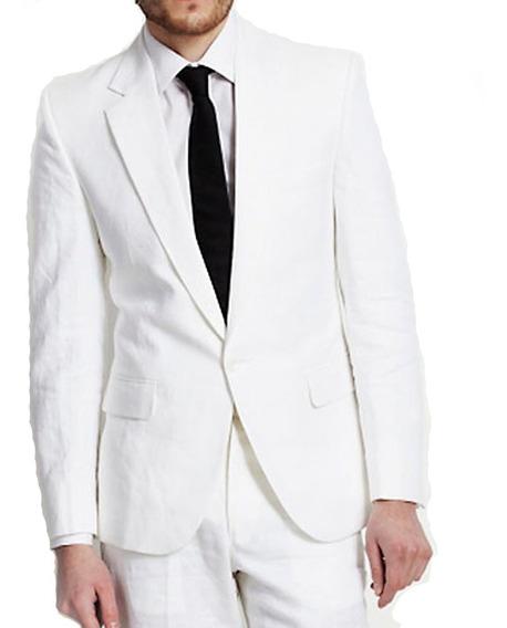 Traje Blanco Hombre Ambo Hombre Blanco De Vestir! Local