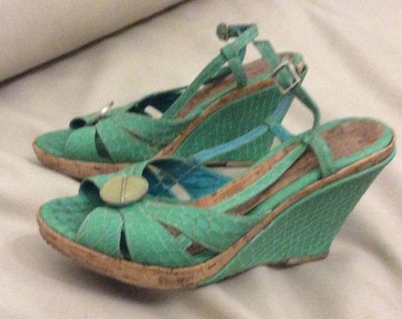 Sandalias Verdes Ferraro Número 38