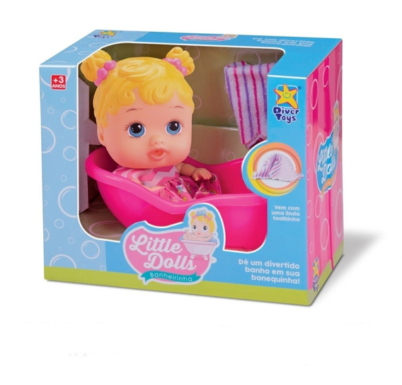Boneca My Little Dolls Banheirinha Loira Menina - Divertoys