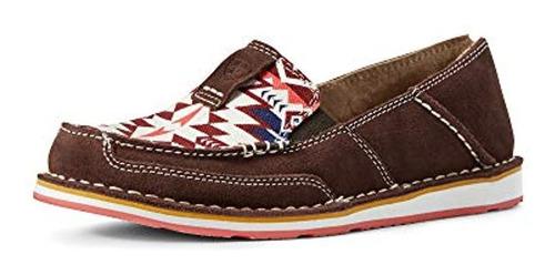 Zapatos Sin Cordones De Inspiracion Occidental, De Gamuza Y