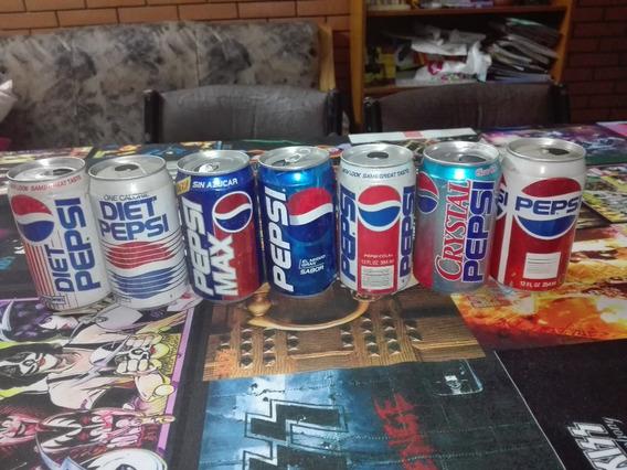 Lote Latas Pepsi Distintas Colecciones Y Paises Retro Gusx