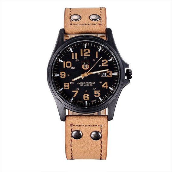 Relógio Masculino Barato Social Soki Militar Luxo Baratos