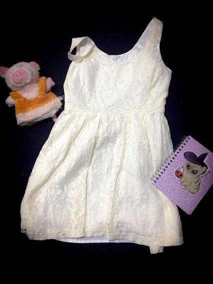 Vestido Blanco Crema Forever 21 Usado Kawaii