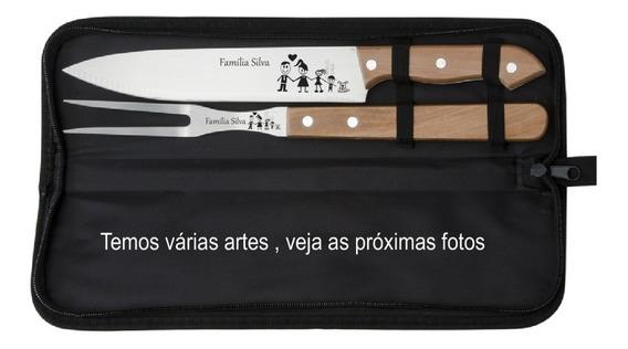 Kit Churrasco Personalizado 2 Pçs - Dia Dos Pais