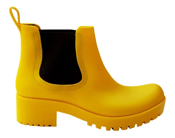 Botas De Lluvia - Mujer - Goma -taco Bajo