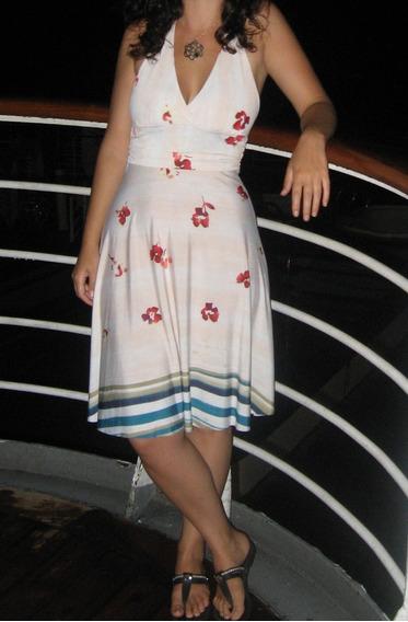 Vestido Marilyn Seda Fría Estampado Flores Verano