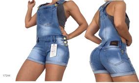 Macacão Jeans Com Lycra Estilo Pit Bull Bojo Frete Grátis