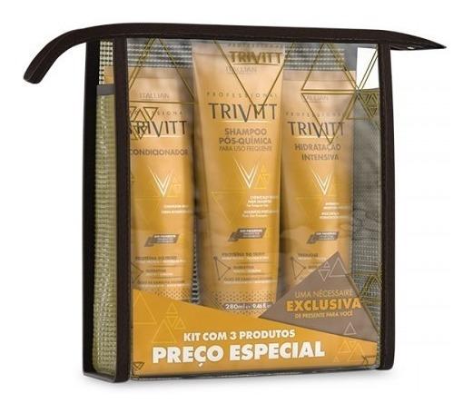 Trivitt Kit Manutenção C/ Máscara 3 Produtos Itallian