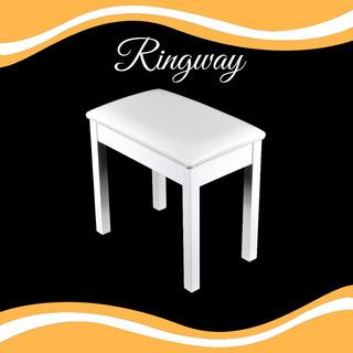 Asiento De Madera Para Piano Color Blanco Marca Ringway