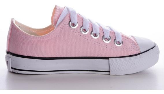 Tênis Converse All Star Ct Cano Baixo Rosa Bebê Infantil