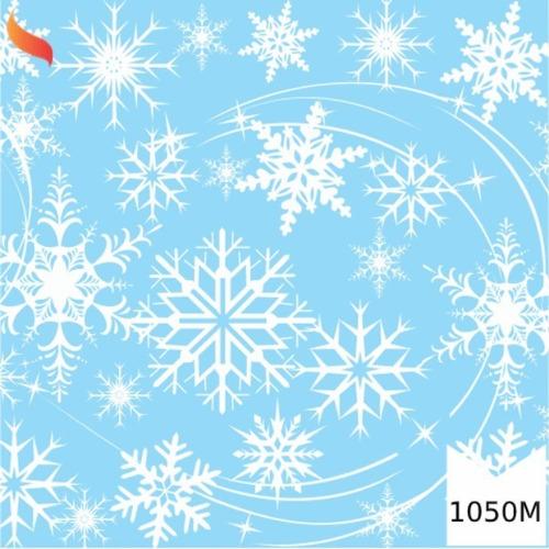 Tnt Estampado Flocos Neve Frozen Decoração 1,4m X 2 Metros