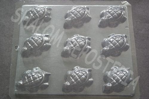 Imagen 1 de 4 de * Molde Para Chocolate 9 Tortugas Yeso Jabon Gomita Pasta