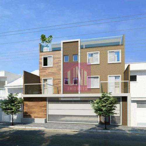 Cobertura Com 2 Dormitórios À Venda, 74 M² Por R$ 290.000,00 - Parque Erasmo Assunção - Santo André/sp - Co0834