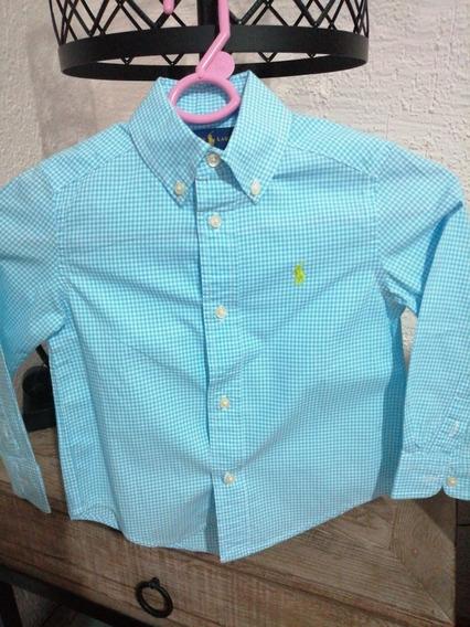 Camisa Polo Ralph Laurent Kids Talla 2 Turquesa
