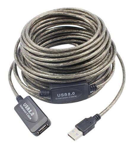 Imagen 1 de 1 de Cable Extension Usb Activo 15 Metros Blindado Sin Perdida