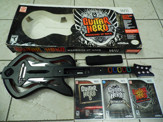 Guitar Hero Warriors Of Rock Con Guitarra-juego+2 Juegos Wii