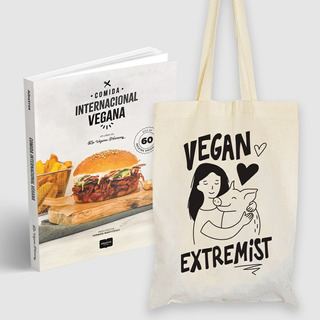 Libro Comida Internacional Vegana + Bolsa Extremist