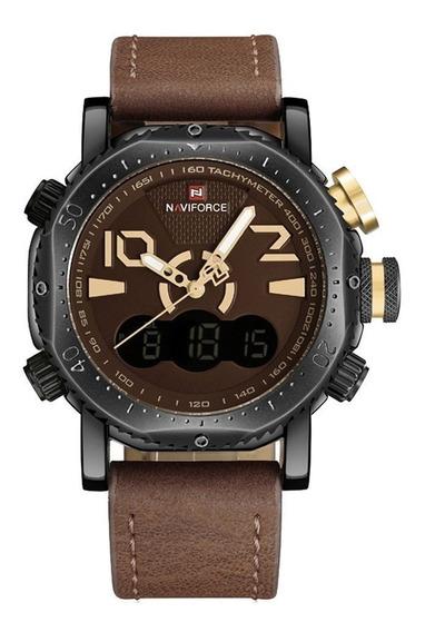 Relógio Naviforce Nf9094 Pulseira Couro Original + Caixa